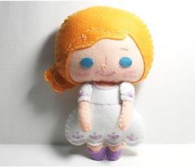 Shelby girl - doll pattern, felt doll, PDF